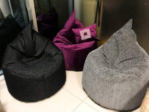 Bean bags, embroidery pillows
