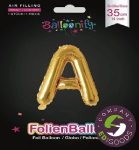 Foil balloon letters, numbers 35 cm