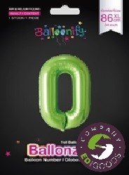 Foil balloon letters, numbers 86 cm
