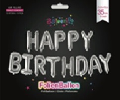"Foil balloon lettering ""Happy Birthday"" 35cm"